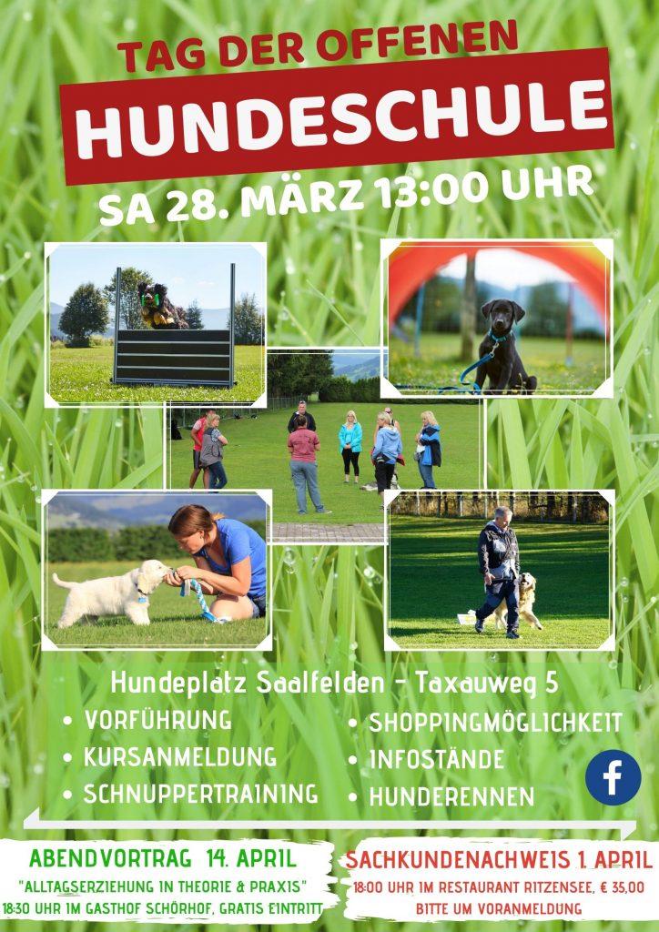 Plakat Tag der offenen Hundeschule